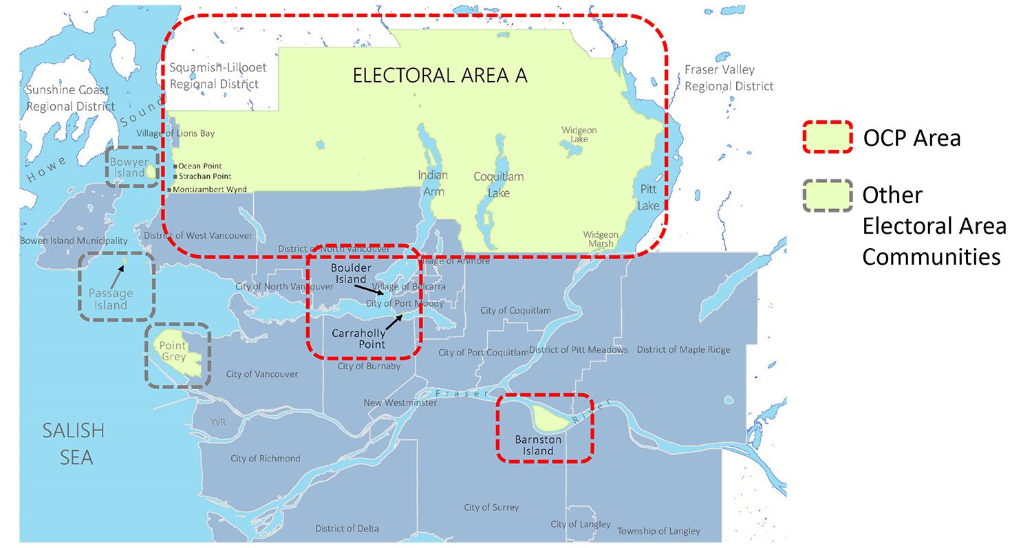 Electoral Area A OCP Map