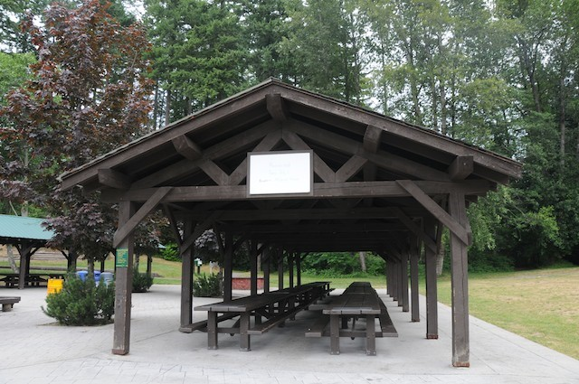 Large picnic shelters can be used by large groups of up to 75 people at a time. For information and reservations call 640-432-6359