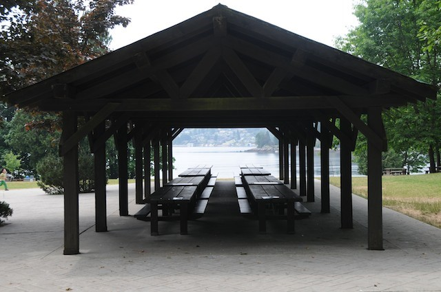 The Belcarra picnic shelter can be reserved for large groups