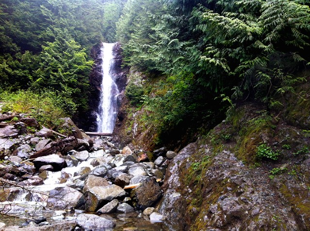 A five hour return trip for fit hikers, Norvan Falls is a scenic destination.