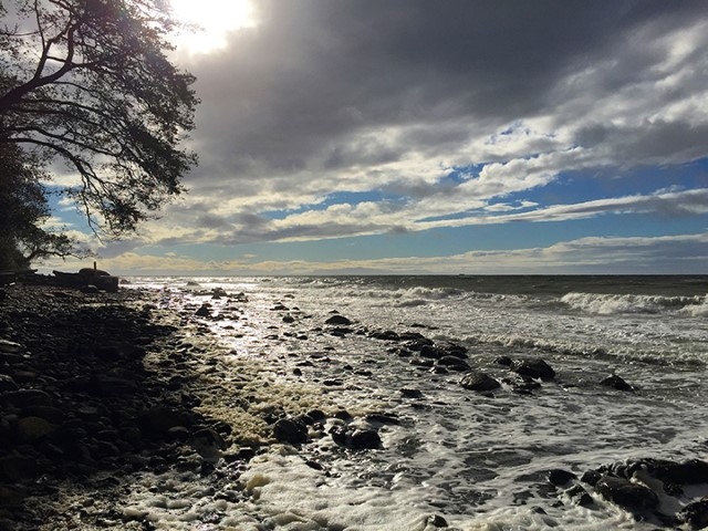 On a windy fall day, Tower Beach can feel like it's on the west coast of Vancouver Island.